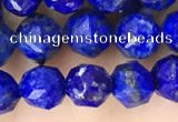 CNL1718 15.5 inches 6mm faceted nuggets lapis lazuli beads
