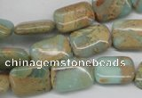 CNS146 15.5 inches 12*16mm rectangle natural serpentine jasper beads