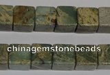 CNS210 15.5 inches 15*15mm cube natural serpentine jasper beads