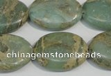 CNS242 15.5 inches 18*25mm oval natural serpentine jasper beads