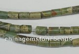 CNS274 15.5 inches 5*7mm tube natural serpentine jasper beads