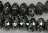 CNS415 15.5 inches 10*16mm rondelle natural serpentine jasper beads