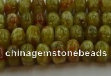 CNS610 15.5 inches 4*6mm rondelle green dragon serpentine jasper beads