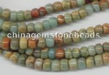 CNS71 15.5 inches 4*6mm rondelle natural serpentine jasper beads
