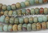 CNS72 15.5 inches 5*8mm rondelle natural serpentine jasper beads