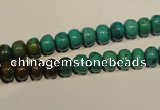 CNT111 15.5 inches 4*7mm rondelle natural turquoise beads wholesale