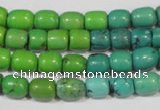 CNT210 15.5 inches 7*5mm – 7*9mm drum natural turquoise beads wholesale