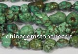 CNT243 15.5 inches 8*10mm - 10*14mm nuggets natural turquoise beads