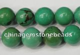 CNT355 15.5 inches 14mm round turquoise beads wholesale