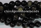 COB253 15.5 inches 8mm round golden obsidian beads wholesale