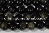 COB254 15.5 inches 10mm round golden obsidian beads wholesale