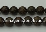 COB800 15.5 inches 4mm round red snowflake obsidian beads