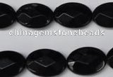 CON65 15.5 inches 13*18mm faceted oval black onyx gemstone beads