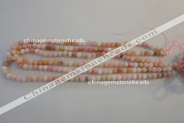 COP1060 15.5 inches 6mm round natural pink opal gemstone beads
