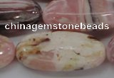 COP1283 15.5 inches 25*50mm oval natural pink opal gemstone beads