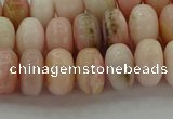 COP1287 15.5 inches 5*8mm rondelle natural pink opal beads