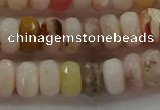 COP1322 15.5 inches 5*8mm faceted rondelle natural pink opal beads