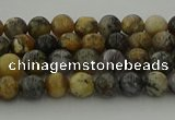 COP1380 15.5 inches 4mm round moss opal gemstone beads whholesale