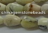 COP1480 15.5 inches 8*12mm faceted teardrop African opal gemstone beads