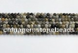 COP1609 15.5 inches 6mm faceted round moss opal beads