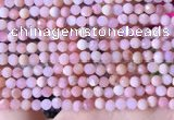 COP1740 15.5 inches 4mm faceted round natural pink opal beads
