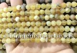COP1766 15.5 inches 6mm round matte yellow opal beads wholesale