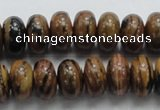 COP203 15.5 inches 8*14mm rondelle natural brown opal gemstone beads