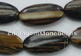 COP234 15.5 inches 15*30mm oval natural brown opal gemstone beads