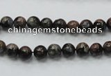 COP282 15.5 inches 6mm round natural grey opal gemstone beads