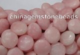 COP413 15.5 inches 10mm flat round Chinese pink opal gemstone beads
