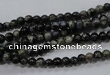 COP451 15.5 inches 4mm round natural grey opal gemstone beads