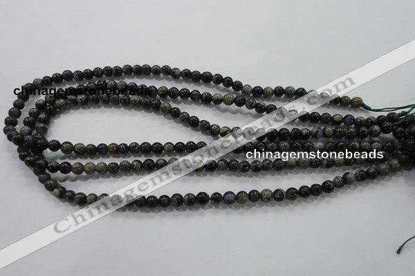COP452 15.5 inches 6mm round natural grey opal gemstone beads