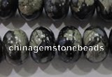 COP473 15.5 inches 13*18mm rondelle natural grey opal gemstone beads