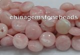 COP59 15.5 inches 6mm flat round natural pink opal gemstone beads