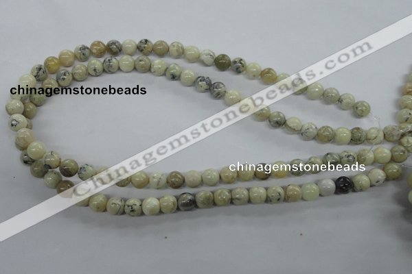 COP802 15.5 inches 8mm round natural African opal beads