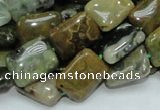 COS08 15.5 inches 12*16mm rectangle ocean stone beads wholesale