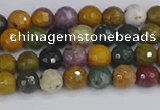 COS200 15.5 inches 4mm faceted round ocean jasper beads