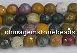 COS201 15.5 inches 6mm faceted round ocean jasper beads