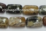 COS21 15.5 inches 13*18mm rectangle ocean stone beads wholesale
