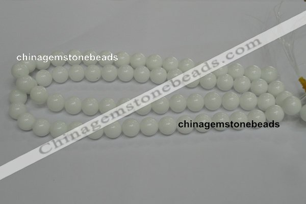 CPB05 15.5 inches 12mm round white porcelain beads wholesale
