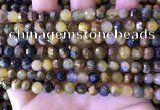 CPB1081 15.5 inches 6mm faceted round pietersite gemstone beads