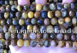 CPB1082 15.5 inches 8mm faceted round pietersite gemstone beads