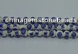 CPB534 15.5 inches 12mm round Painted porcelain beads