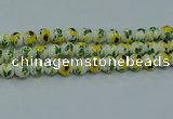 CPB731 15.5 inches 6mm round Painted porcelain beads