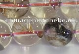 CPC654 15.5 inches 12mm round yellow phantom quartz beads