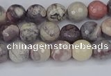 CPJ611 15.5 inches 6mm faceted round purple striped jasper beads