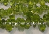 CPO115 Top-drilled 3*7mm teardrop natural peridot beads wholesale