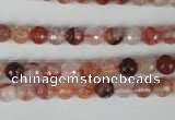 CPQ22 15.5 inches 6mm faceted round natural pink quartz beads
