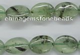 CPR222 15.5 inches 12*16mm oval natural prehnite beads wholesale