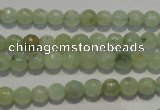 CPR51 15.5 inches 6mm faceted round natural prehnite beads